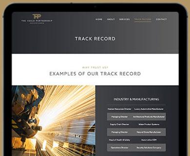 The Heald Partnership Website Design